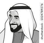 portrait of    sheikh zayed   ... | Shutterstock .eps vector #1024789276