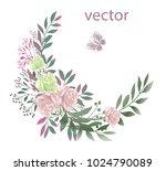 vector illustration of branch... | Shutterstock .eps vector #1024790089