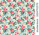 vector seamless pattern. pretty ... | Shutterstock .eps vector #1024792570