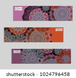 ethnic banners template with... | Shutterstock .eps vector #1024796458