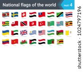 waving flags of the world.... | Shutterstock .eps vector #1024797196