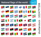 waving flags of the world.... | Shutterstock .eps vector #1024797208