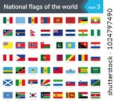 flags of the world. vector... | Shutterstock .eps vector #1024797490