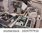 electronic waste  old computers ... | Shutterstock . vector #1024797910