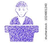 grunge official clerk rubber... | Shutterstock .eps vector #1024801240