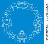 toys for children  robots ... | Shutterstock .eps vector #1024803226