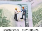businessmen figurines shaking... | Shutterstock . vector #1024806028