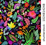 amazing seamless floral pattern ... | Shutterstock .eps vector #1024814248