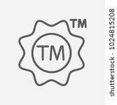 trademark icon line symbol....
