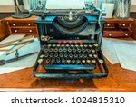 antique  typewriter with a...   Shutterstock . vector #1024815310