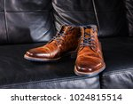 a pair of brown men's leather... | Shutterstock . vector #1024815514