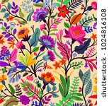 seamless floral pattern with a... | Shutterstock .eps vector #1024816108