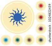 sun stylized image icon. vector ... | Shutterstock .eps vector #1024822459