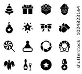 solid vector icon set  ... | Shutterstock .eps vector #1024823164