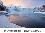 Godafoss Frozen Waterfall...