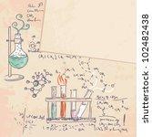 old chemistry laboratory vector ... | Shutterstock .eps vector #102482438