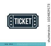 ticket icon vector logo template | Shutterstock .eps vector #1024829173