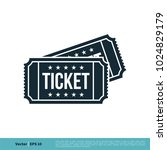 ticket icon vector logo template | Shutterstock .eps vector #1024829179