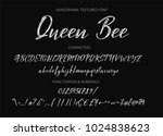 calligraphic alphabet. vector...   Shutterstock .eps vector #1024838623