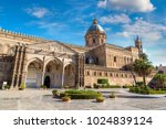 palermo cathedral in palermo ... | Shutterstock . vector #1024839124