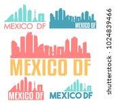 mexico df america flat icon...   Shutterstock .eps vector #1024839466