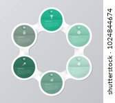 circle infographic template... | Shutterstock .eps vector #1024844674