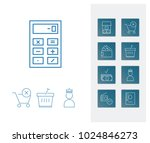 commerce icon set and payment...