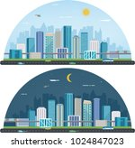 day and night urban landscape.... | Shutterstock .eps vector #1024847023