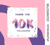 10k followers thank you square...   Shutterstock .eps vector #1024850758