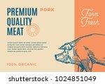 premium quality pork. abstract... | Shutterstock .eps vector #1024851049