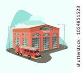 fire department or dept ... | Shutterstock .eps vector #1024851523