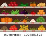 shop or store stall or stand ... | Shutterstock .eps vector #1024851526