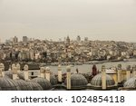 galata tower cityscape with... | Shutterstock . vector #1024854118