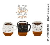 illustration of cup of coffee... | Shutterstock .eps vector #1024861123