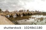 the meric bridge or mecidiye... | Shutterstock . vector #1024861180
