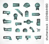 vector stickers  price tag ... | Shutterstock .eps vector #1024864480