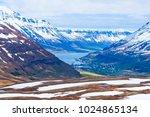 scenic seydisfjordur fjord in... | Shutterstock . vector #1024865134