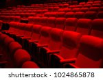 empty theater seats   rows of... | Shutterstock . vector #1024865878