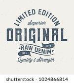 original raw denim   vintage... | Shutterstock .eps vector #1024866814