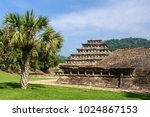 archaeological site of el tajin ...   Shutterstock . vector #1024867153