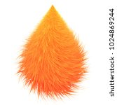 colorful cartoon fluffy drops.... | Shutterstock .eps vector #1024869244
