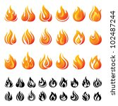fire icons set | Shutterstock .eps vector #102487244