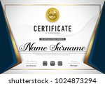 certificate template luxury and ... | Shutterstock .eps vector #1024873294