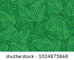 vector pattern green  leaves | Shutterstock .eps vector #1024875868