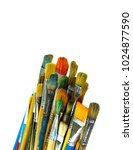 paints and brushes. | Shutterstock . vector #1024877590