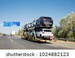 Big car carrier trailer with...