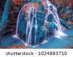 bigar waterfall in avatar world ... | Shutterstock . vector #1024883710