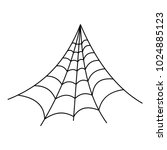 strong spiderweb icon. outline...   Shutterstock .eps vector #1024885123