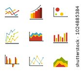 economic table icons set. flat... | Shutterstock .eps vector #1024885384