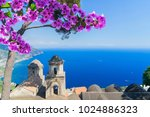church belltowers in ravello... | Shutterstock . vector #1024886323